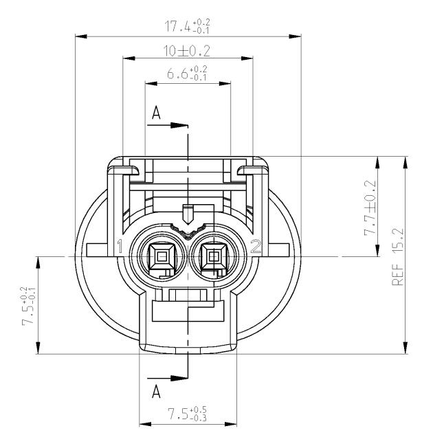 2 way abs sensor connector 1