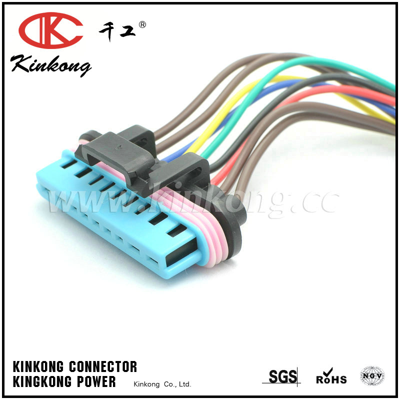 9 pole female waterproof electrical wire connectors