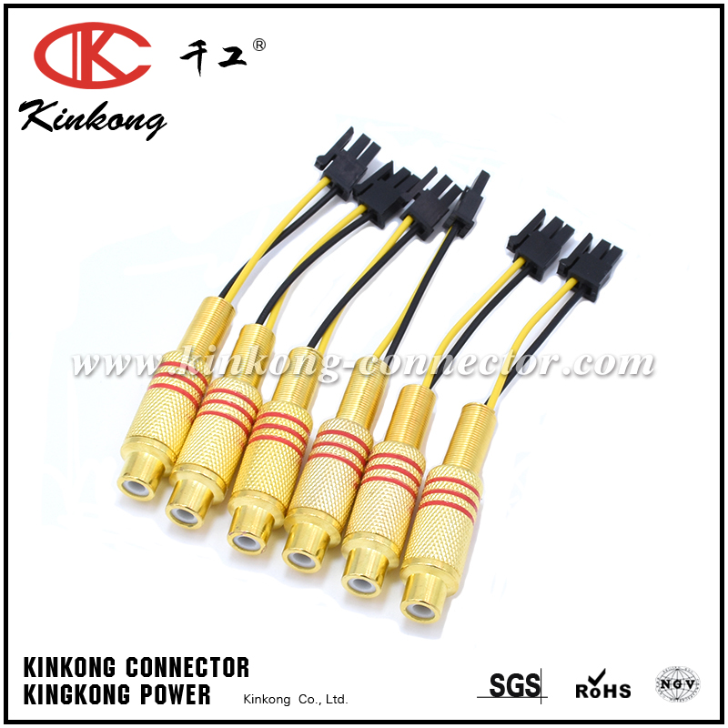 Wiring Harness Connector Types : Kinkong type electric rca wire harness