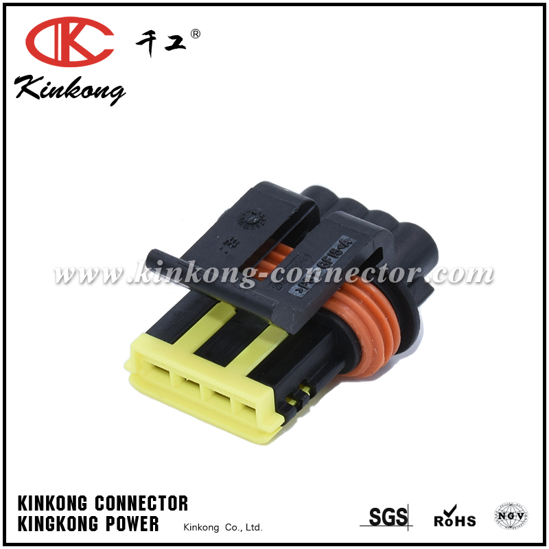 4 way female electric wire connectors 444046-1