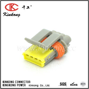 4 pole receptacle waterproof automotive connector CKK7046G-1.2-21