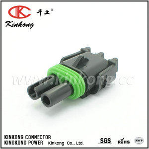 2 pole female waterproof connector socket CKK3021A-2.5-21