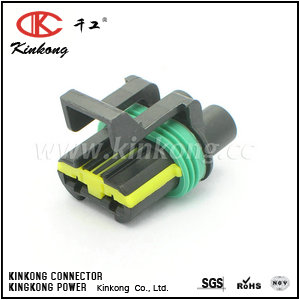 2 pole female electrical wiring connector  CKK7022B-6.3-21