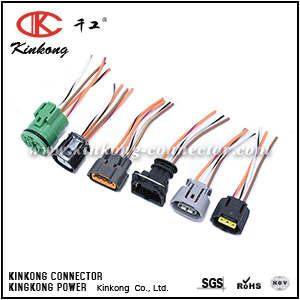 Auto wiring harness with sensor connector