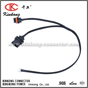 wire harness with 4P molex connector WC001