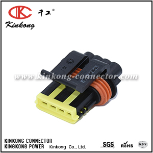 444046-1 4 way female electric wire connectors CKK7046C-1.2-21