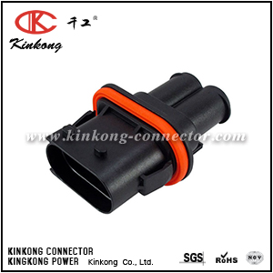 1394026-1 2 pin male sealed auto electrical connector