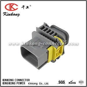 2-1703648-1 7 pole hybrid gray housing connector