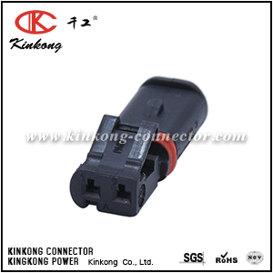 Female 2 Pin auto wire crimp car connector CKK7022Q-1.0-21