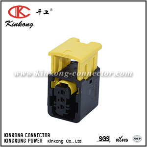 1-1418448-1 3 hole receptacle waterproof auto plug CKK7039B-1.5-21