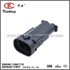 1544980-1 2 way male electric wire plug