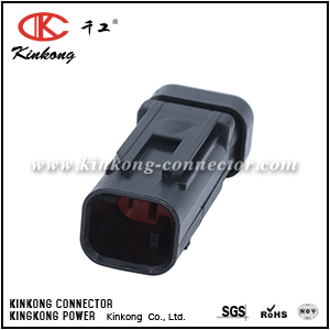 776428-1 2 pole black plastic auto connector with TPA CKK3025R-1.5-11