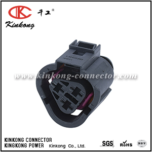1J0 973 203 3 way female Radiator Fan Switch Connector CKK7035A-6.3-21