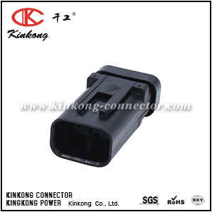776430-4 3 Pin male waterproof auto electric wire connector