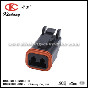 DT06-2S-E004 AT06-2S-BLK 2 pole female black DT series electrical plug
