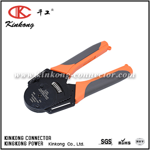 CLOSED BARREL CRIMPER 4 WAY INDENT, 8 IMPRESSION TYPE FOR DEUTSCH SOLID CONTACTS CKK-12