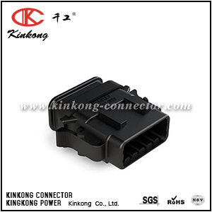 ATM06-12SB-SR1BK 12-WAY PLUG, FEMALE CONNECTOR, B POSITION KEY WITH STRAIN RELIEF. COMPARABLE TO PN DTM06-12SB-E007